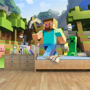 MineCraft-Behang-Steve