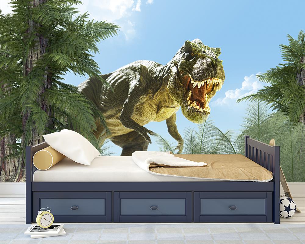 Kinderkamer Behang Dino T Rex Zon Toyfloor Nl