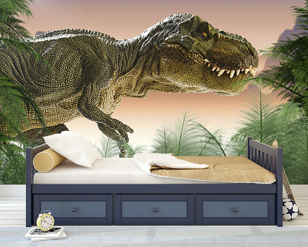 Kinderkamer Behang Dino T Rex Tropisch Toyfloor Nl